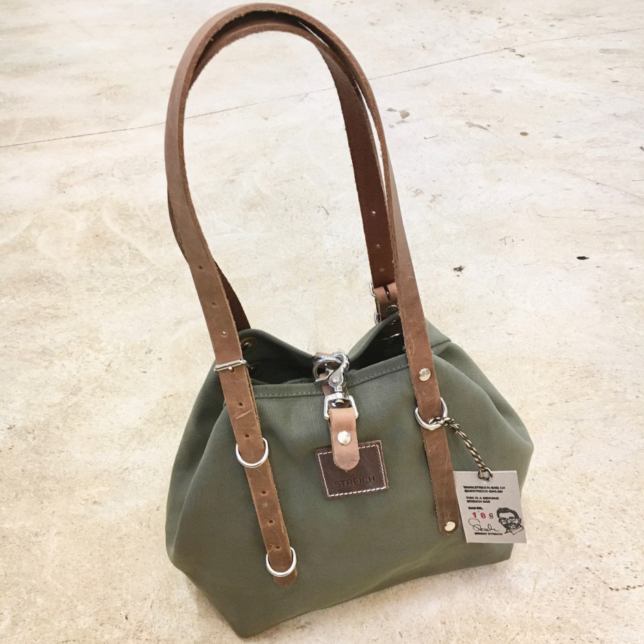 ca6632d7fe493 STREICH CHESHAM bag. Canvas Bag out of Vintage Swiss Army Tent ...