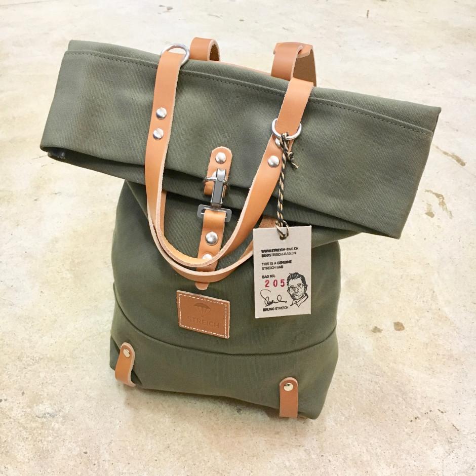 f094f265ca STREICH SANTORINI Gunbelt bag. Canvas Bag out of Vintage Swiss Army ...